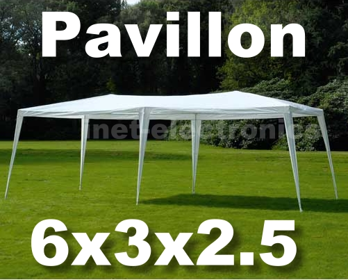 pavillon partyzelt garten zelt 6x3m neu stahlrohr weiss ebay. Black Bedroom Furniture Sets. Home Design Ideas