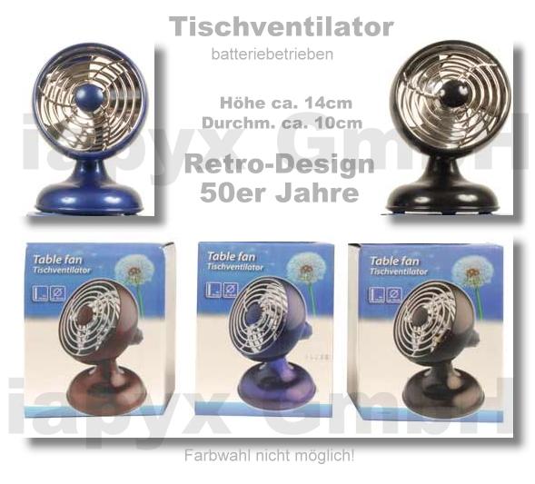 Ventilator tischventilator retro design 10cm neu ovp ebay for Design tischventilator
